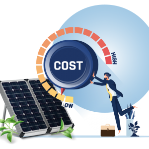 Saves huge costs by consuming free renewable energy